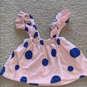 Super adorable skirt with suspenders !
